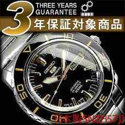 セイコーファイブ 腕時計(メンズ) セイコー セイコー5 スポーツ SEIKO5 SPORTS セイコーファイブスポーツ メンズ 腕時計 SNZH57J セイコー 逆輸入 自動巻き メカニカル ブラック メタルベルト 日本製 SNZH57J1 SNZH57JC ビジネス 3年保証 男性用