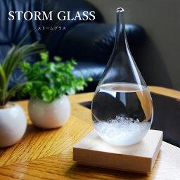 晴雨予報グラス ストームグラス テンポドロップ ガラス 天気予報ボトル ストーム瓶 Tempo Drop Large 気象予報器 結晶観察器 しずく型 水滴状 インテリア 小物 贈り物 プレゼント 置物