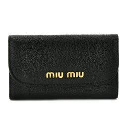 ミュウミュウ キーケース ミュウミュウ MIU MIU カーフスキン 6連キーケース 5PG222 034 002