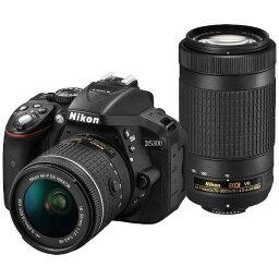 nikon ニコンD5300 AF-P ダブルズームキット ブラック 2416万画素 デジタル一眼レフカメラ【あす楽対応_関東】【送料無料】