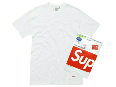 SUPREME シュプリーム ヘインズ 新品 白 Hanes Tagless (3 Pack) Tシャツ アンダーウェアー 3枚パック WHITE