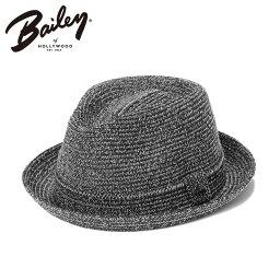 ベイリー  ベイリー 麦わら帽子 中折れハット ビリー ブラック BAILEY 帽子 メンズ レディース || 夏用帽子 中折れ帽 サマーハット 中折れ ブランド レディース帽子 メンズ帽子 中折れ帽子 おしゃれ 夏 麦わら 黒 ストローハット ハット