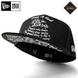 ニューエラ ニューエラ NEW ERA キャップ 59FIFTY 別注 KEEP IT REAL BLACK ブラック 黒 帽子 ぼうし おしゃれ ストリート ブランド 大きいサイズ 春夏秋冬 メンズ レディース