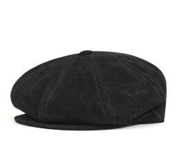 ニューヨークハット ニューヨークハット(NEW YORK HAT)キャスケット スエード ニュースボーイ ブラック 帽子 CASQUETTE SUEDE NEWSBOY BLACK [メンズ][BK] #CQ