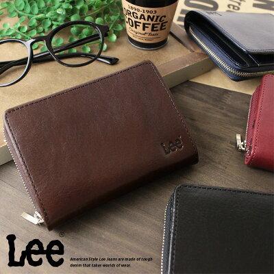 Lee リー 二つ折り財布 財布 メンズ 牛革ベジタブルレザー 送料無料 0520266