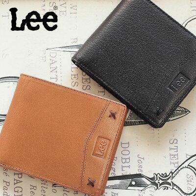 Lee リー ブック型二つ折り財布 財布 牛革×豚革 0520314 BOOK型 【メール便対応商品】