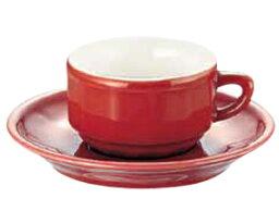 アピルコ アピルコ フローラ モカカップ&ソーサー(6客入) PTFL M FL レッド【APILCO】【コーヒーカップ】【コーヒーコップ】【ティーカップ】【ティーコップ】【紅茶カップ】【業務用】