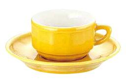 アピルコ アピルコ フローラ モカカップ&ソーサー(6客入) PTFL M FL イエロー【APILCO】【コーヒーカップ】【コーヒーコップ】【ティーカップ】【ティーコップ】【紅茶カップ】【業務用】