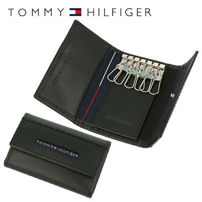 トミーヒルフィガー TOMMY HILFIGER キーケース 31TL17X017-001 (0094-5692/01) ブラック (6キーホック) レザー(革) メンズ 男性 トミー シンプル