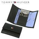 トミーヒルフィガー キーケース(メンズ) 【訳あり】トミーヒルフィガー TOMMY HILFIGER キーケース 31TL17X002-001 (0094-4510/01) ブラック (6キーホック) レザー(革) メンズ 男性 トミー シンプル ワケあり 難あり