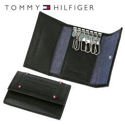 トミーヒルフィガー キーケース(メンズ) トミーヒルフィガー TOMMY HILFIGER キーケース 31TL17X015-001(0094-5641/01) ブラック (6キーホック) レザー(革) メンズ 男性 トミー シンプル
