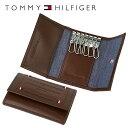 トミーヒルフィガー キーケース(メンズ) トミーヒルフィガー TOMMY HILFIGER キーケース 31TL17X015-200(0094-5641/02) ブラウン (6キーホック) レザー(革) メンズ 男性 トミー シンプル