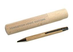 ルイヴィトン 【新モデル】パリ限定!LOUIS VUITTON/ルイヴィトン美術館/ウッドボールペン/ペンケース付き/FONDATION LOUIS VUITTON【あす楽対応_関東】