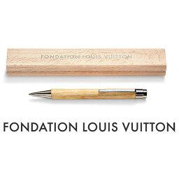 ルイヴィトン ペンケース パリ限定!LOUIS VUITTON/ルイヴィトン美術館/ウッドボールペン/ペンケース付き/FONDATION LOUIS VUITTON