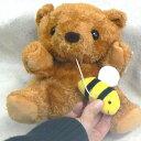 ぬいぐるみオルゴール 指人形(クマ)動物ヌイグルミオルゴール(プーリー式 紐 ミツバチ ハンドパペット ♪お子様曲) プレゼント