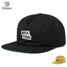 ブリクストン 【メール便送料無料】 BRIXTON (ブリクストン) TEAM MP SNAPBACK スナップバックキャップ メンズ 18秋 サイズ調整可能 黒/黄 【あす楽対応】