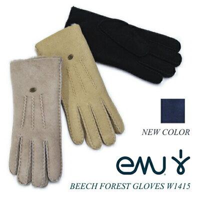 日本正規品 emu エミュー エミュ 手袋 グローブ BEECH FOREST GLOVES W1415 ビーチフォレストグローブ シープスキン ムートン 【送料無料】【あす楽対応】