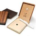 名入れ携帯灰皿 木と革のコラボ/携帯灰皿カバーA[素材:アフリカンマホガニー]