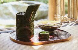 竹の酒器セット 【美濃焼】織部 竹型冷酒器セット