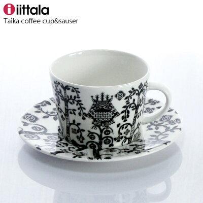 iittala ( イッタラ ) Taika ( タイカ ) コーヒーカップ & ソーサー / ブラック ( 一客 )  .
