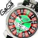 ガガ ミラノ 腕時計(メンズ) ガガミラノ GaGaMILANO ガガミラノ 腕時計 GaGaMILANO 腕時計 ガガ ミラノ GaGa MILANO ガガミラノ 時計 GaGaMILANO時計 マヌアーレ 48mm ラスベガス MANUALE 48MM LASVEGAS グリーン レッド メンズ GG-5010LAS ルーレット 人気 送料無料