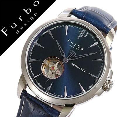 【5年保証対象】フルボデザイン 腕時計 Furbodesign 時計 フルボ デザイン 時計 Furbo design 腕時計 メンズ ネイビー F5027SBLBL 革 ベルト 正規品 機械式 自動巻 メカニカル おしゃれ オートマチック イタリアンレザー ブルー ネイビー シルバー 送料無料