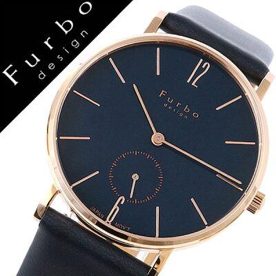 フルボデザイン腕時計 Furbo design 腕時計 フルボ デザイン 時計 メンズ ネイビー F01-PNVNV [正規品 イタリア スタイル 人気 定番 スーツ ビジネス フォーマル ファッション おしゃれ シンプル デザイン レザー スモールセコンド プレゼント ギフト]