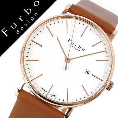 【5年保証対象】フルボデザイン 腕時計 Furbodesign 時計 フルボ デザイン 時計 Furbo design 腕時計 メンズ ホワイト F02-PIVLB [ イタリア スタイル 人気 定番 スーツ ビジネス フォーマル ファッション おしゃれ デザイン レザー ブラウン プレゼント ギフト][送料無料]