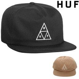 ハフ キャップ メンズ ( ハフ キャップ ) HUF ESSENTIALS UNSTRUCTURED TT SNAPBACK HAT ハフ キャップ ベースボールキャップ スナップバック 帽子 CAP