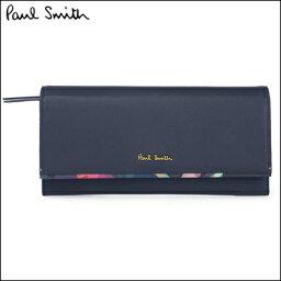 ポールスミス 財布(レディース) ポールスミス 財布 Paul Smith バッグ ポール・スミス 新品 ポール スミス 正規品 フォトグラムアイリストリム 長財布 ネイビー