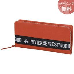 ヴィヴィアンウエストウッド 長財布(メンズ) ヴィヴィアンウエストウッド 財布 長財布 ラウンドジップ メンズ ロゴベルト オレンジ Vivienne Westwood ヴィヴィアン ウエストウッド