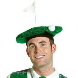 変わり種ティー ホールインワンゴルフ ベレー帽 【 コスプレ 衣装 ハロウィン パーティーグッズ かぶりもの おもしろ 面白い ゴルフ キャップ プチ仮装 変装グッズ 帽子 笑える ハロウィン 衣装 ぼうし おもしろハット 】