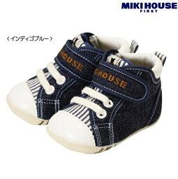 ミキハウス ベビー服 MIKIHOUSE FIRST/ミキハウスファーストBBBデニムファーストベビーシューズ11〜13cm