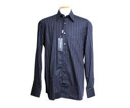 ドルチェ&ガッバーナ 【送料無料】DOLCE&GABBANA メンズ カッターシャツ ドレスシャツ ブラック CLASSIC FIT ストライプ サイズ41/42/43