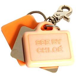 クロエ SEE BY CHLOE シーバイクロエ スネーク キーホルダー アクセサリー キーリング チャーム 9K7206 N21 A30 CALYPSO オレンジ