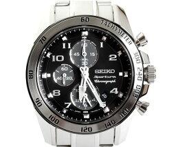 スポーチュラ 【送料無料】SEIKO セイコー メンズ腕時計 Sportura スポーチュラ クロノグラフ SNAE61P1 ブラック文字盤 メンズ 時計 【楽ギフ_包装】