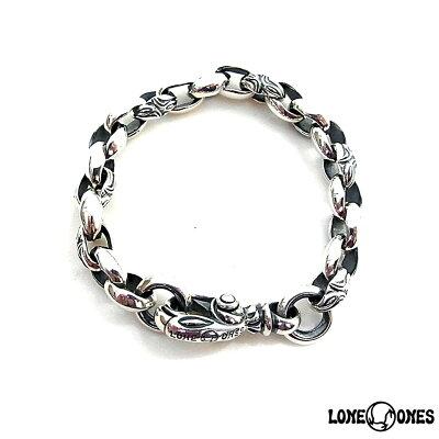 【LONE ONES】ロンワンズ【送料無料】【あす楽】/MF Bracelet: Carved Silk Link - Small (Plain Circle)  カーブドシルクリンク—スモール(プレーンサークル)/シルバーブレスレット