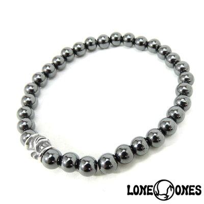 【LONE ONES】ロンワンズ【送料無料】【あす楽】/MF Stone Bracelet - Hawk Bead Small ストーンブレスレット/ホークビード スモール ストーンブレスレット/6mmストーン/天然石/シルバー