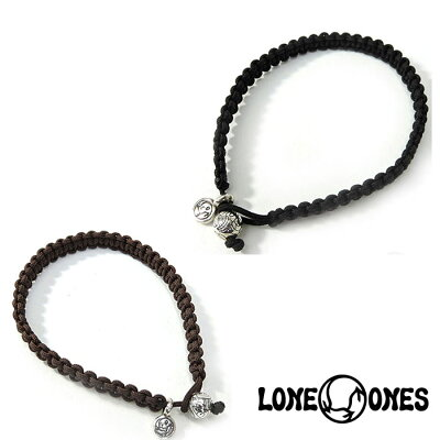 【LONE ONES】ロンワンズ【送料無料】【あす楽】/MF Bracelet: Macrame w/6mm Engraved Nest マクラメw/6mm エングレイブドネストブレスレット