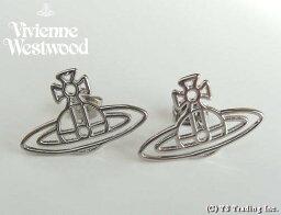 ヴィヴィアンウエストウッド Vivienne Westwood ヴィヴィアンウエストウッド★Thin Lines Orb Stud Pierced Earrings☆シン ラインズ オーブ スタッド ピアス(SV)【あす楽対応】【YDKG-k】【W3】【送料無料】