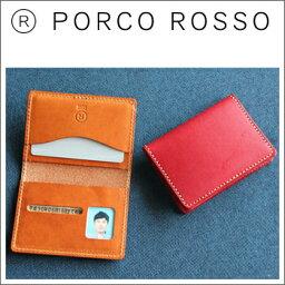 ポルコロッソ 【送料無料】PORCO ROSSO(ポルコロッソ)2つ折り免許証ケース [sokunou]