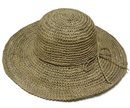 ニューヨークハット 帽子 レディース 帽子 ストローハット 麦わら 女優帽 つば広 New York Hat(ニューヨークハット) レディースハット #7116 SEA GRASS FLOPPY Natural