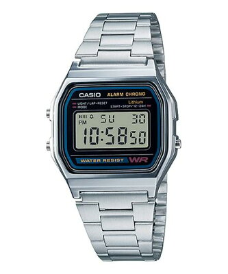 CASIO A158WA-1JF 腕時計 カシオ ユニセックス クオーツ 樹脂 無機ガラス