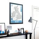 scratch map  Luckiesスクラッチマップ U.K.&IRELAND*scratch map poster