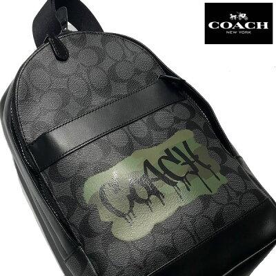 コーチ COACH CHARLES PACK シグネチャー グラフィック ショルダーバッグ CHARCOAL 【f36813-blk】