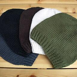 ヘンプ 帽子(メンズ) 【あす楽】 コットン/ヘンプロングワッチキャップ HAND MADE ニット帽 春夏 麻