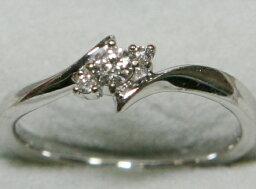 4℃ 指輪 【エントリーでポイント最大44倍】4℃ シンプル K18 WG ダイヤ リング 10号 2.48g