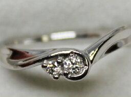 4℃ 指輪 【エントリーでポイント最大44倍】4℃ シンプル PT950 ダイヤ リング 7号 3.54g プラチナ