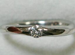 スタージュエリー 指輪 スタージュエリー PT900 一粒 ダイヤ リング 0.10ct 11号
