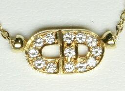 ディオール ネックレス(レディース) 【エントリーでポイント最大44倍キャンペーン中】Dior クリスチャン・ディオール K18 YG ダイヤ ネックレス 18K